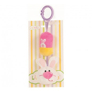 Pink Bunny Rattle 24 cm