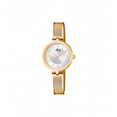Lotus Lady Stahl Gold Silver Dial 18598/1