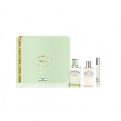 Prada Infusion D'iris EDP 100 ML + Mini rollen auf 10 ML + Body Lotion 100 ML SET Regalo